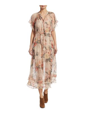ZIMMERMANN Sunny Frill Silk Floral Swing Dress