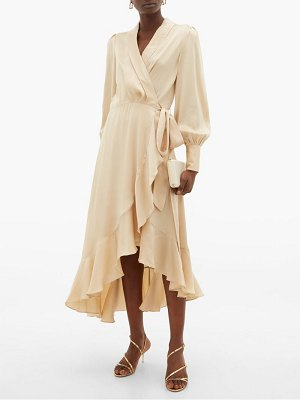 Zimmermann super eight silk wrap midi dress