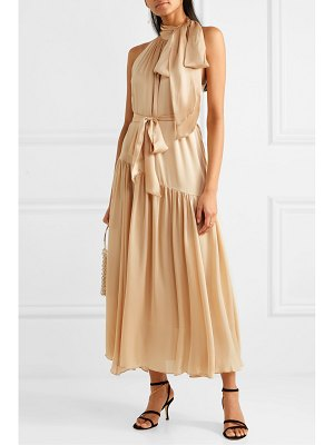 Zimmermann super eight tiered silk halterneck maxi dress