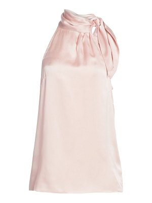 Zimmermann tie-neck silk halter blouse