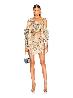 Zimmermann Unbridled Elixir Silk Mini Dress