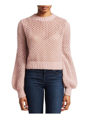 Zimmermann unbridled mohair-blend crop sweater