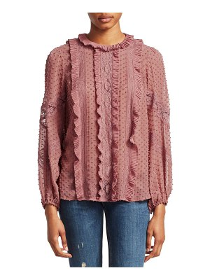 Zimmermann unbridled silk spliced blouse