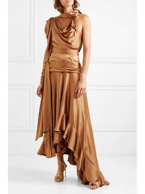 Zimmermann valiant open-back ruffled satin maxi dress