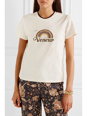 Zimmermann veneto printed slub cotton-jersey t-shirt