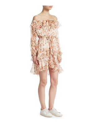 Zimmermann whitewave off-the-shoulder dress