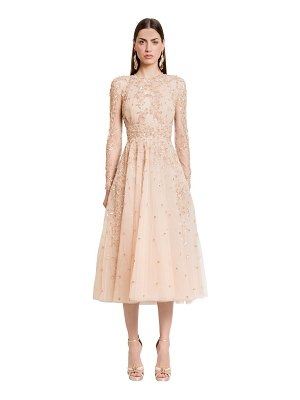Zuhair Murad Embellished silk tulle midi dress