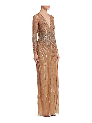 Zuhair Murad plunge embroidered gown