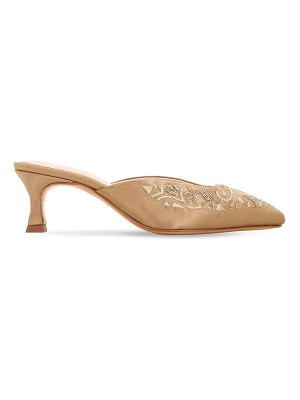 ZYNE 50mm embellished satin mules
