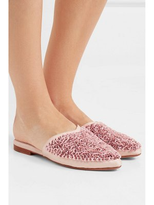 ZYNE candy embellished satin slippers